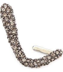 alexander mcqueen crytal-embellished right ear cuff - silver