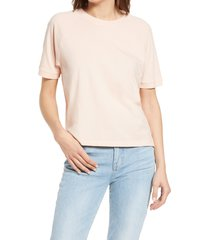 women's madewell softfade cotton raglan t-shirt, size xx-small - pink