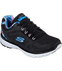 zapatos flex appeal 3.0-tropical prin negro skechers