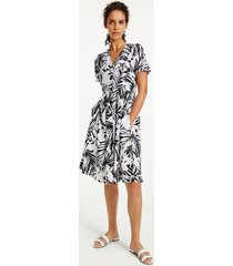 tommy hilfiger women's palm print short-sleeve dress palm print / black - 8