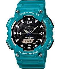 reloj casio aq-s810wc-3a anadigi 100% original-negro