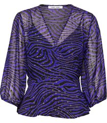 veneta blouse aop 11243 blouse lange mouwen paars samsøe samsøe