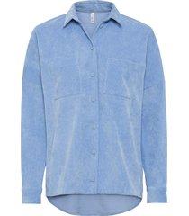camicia in velluto (blu) - rainbow