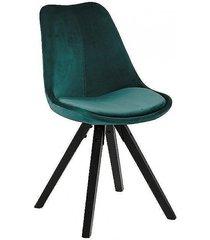 krzesło tapicerowane welwet marcus navy green