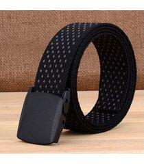 cinturón de hombres, cintura antideslizante-negro