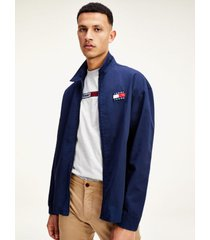 chaqueta informal de algodón azul tommy jeans