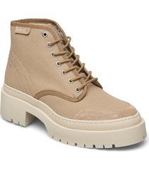 stb-bea recycled t shoes boots ankle boots ankle boot - flat beige shoe the bear