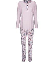 pyjama simone lichtroze::rookblauw::bordeaux