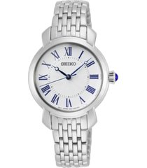 seiko women's essentials stainless steel bracelet watch 29.2mm