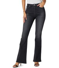 hudson women's holly high-rise flared jeans - night song - size 29 (6-8)