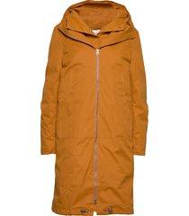 steal coat gevoerde lange jas oranje just female