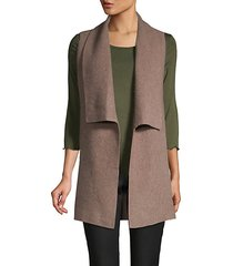 open-front cashmere cardigan