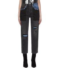 'le original' patchwork jeans