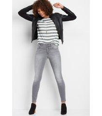 everflex gray high rise skinny jean