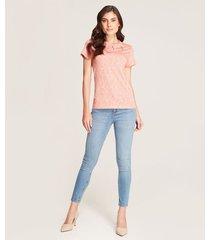 jeans skinny textil desgastado