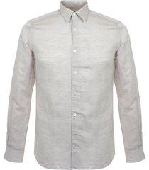 j lindeberg daniel cl linen twill beige field shirt 72mc462904223