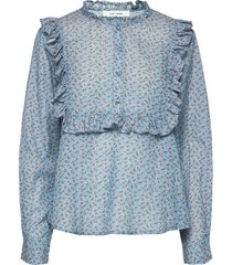 jacqueline shirt blouse lange mouwen blauw nué notes
