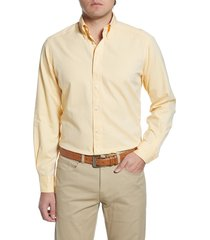 men's big & tall eton soft casual line contemporary fit oxford casual shirt, size 18 - yellow