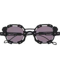 kuboraum hardware round frame sunglasses - black