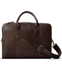 men's shinola guardian leather briefcase - brown
