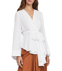 shawl-collar wrap top