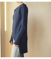 bluza tunika asymetryczna frak prostokąt granat