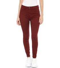 jeans jacqueline de yong burdeo - calce skinny