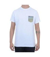 camiseta hurley especial bolso estampado masculina