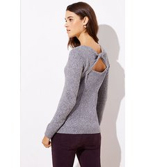 loft twisted back cutout sweater