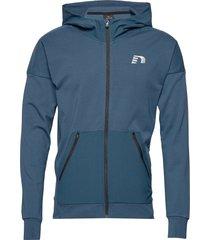 men's zip thru hoodie hoodie trui blauw newline