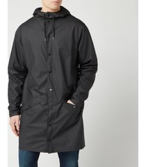 rains men's long jacket - black - m-l