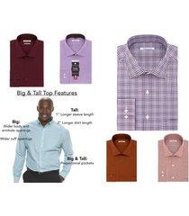 van heusen men's big & tall flex-collar dress shirt, long sleeve button front
