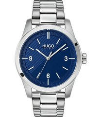 hugo men's #create stainless steel bracelet watch 40mm