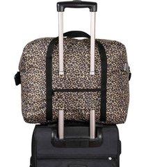 maleta equipaje de mano plegable estampado animal print citybags multicolor