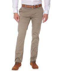 pantalon dusti - olivo preppy chino 98% algodón 2% elastano bota 19