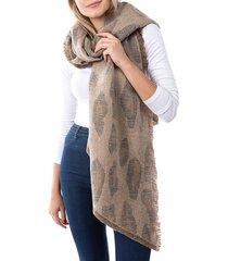 marcus adler women's alexa leopard-print scarf - brown