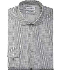 calvin klein men's infinite slim fit dress shirt metal print - size: 17 1/2 36/37