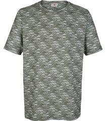 t-shirt med tryckt mönster roger kent khaki