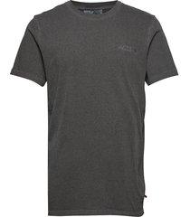 casual tee t-shirts short-sleeved grijs han kjøbenhavn