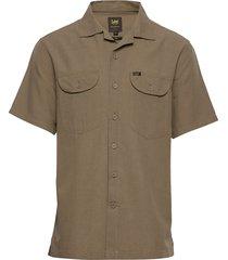 ss worker shirt kortärmad skjorta grön lee jeans