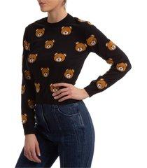 maglione maglia donna girocollo teddy