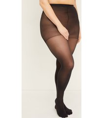 lane bryant women's smoothing tights - opaque g-h black