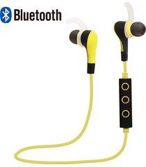 audífonos bluetooth estéreo hd manos libres deportivos, bt-50 de calidad audifonos bluetooth manos libres  inalámbrico auricular de deporte de ejecución de auriculares (amarillo)