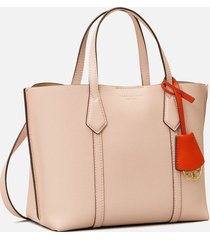 tory burch women's perry small triple-compartment tote - shell pink