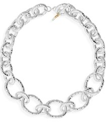 ippolita 'glamazon' hammered silver heavy gauge necklace, size 19.5 in at nordstrom