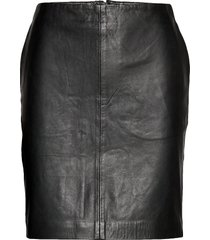19 the leather skirt kort kjol svart denim hunter