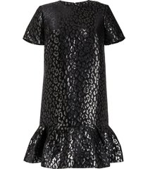 carolina herrera leopard jacquard-woven dress - black