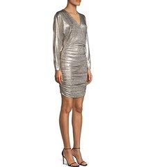 pace batwing-sleeve drape dress