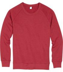 alternative apparel faded red modern fit terry sweatshirt