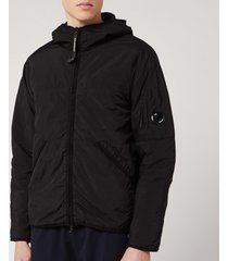 c.p. company men's medium light jacket - black - 48/s